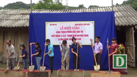Khởi công xây dựng công trình phòng học Dân trí tại điểm trường Ta Lếch, thuộc trường mầm non Mùn Chung (xã Mùn Chung, huyện Tuần Giáo, tỉnh Điện Biên)