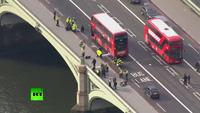 Nạn nhân nằm la liệt trên cầu Westminster sau vụ tấn công khủng bố ở London