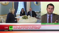 """Ông Putin bất ngờ tiếp """"bà Trump của nước Pháp"""" tại điện Kremlin"""