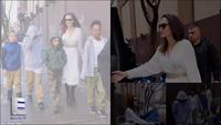Angelina Jolie thanh lịch ra phố cùng các con