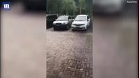 Video mưa rơi thành cột thẳng đứng ở Trung Quốc