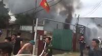 Cháy lớn ở Triều Khúc - Hà Nội