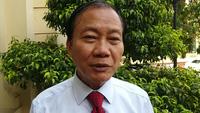 Ông Hoàng Quang Phòng - Phó Chủ tịch VCCI, phát biểu trước khi vào họp.