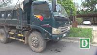 Xử lý hàng loạt xe quá khổ, quá tải tại Bắc Giang.