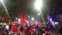Ùn ùn xuống đường  sau chiến thắng của U23 Việt Nam