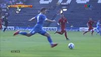 Bobir mở tỷ số cho U23 Uzbekistan trước U23 Việt Nam