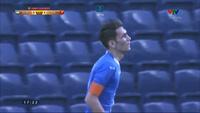 Zabikhillo giúp U23 Uzbekistan dẫn U23 Việt Nam 2-1