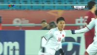 Quang Hải gỡ hòa 1-1 cho U23 Việt Nam trước U23 Qatar