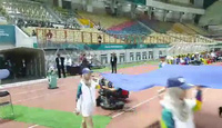 Olympic Việt Nam bước ra sân chuẩn bị cho trận gặp Nepal
