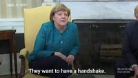 Ông Trump từ chối bắt tay Thủ tướng Đức trong cuộc gặp đầu tiên