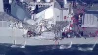 Tàu chiến Mỹ va chạm tàu hàng Philippines, 7 thủy thủ thiệt mạng