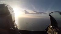Cận cảnh máy bay Đan Mạch chặn máy bay ném bom Nga ở Baltic