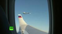 Ông Putin ngắm dàn hộ tống Su-30 từ chuyên cơ thăm đột xuất Syria
