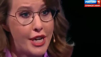 Ứng viên tổng thống Nga bật khóc trên truyền hình vì liên tục bị đối thủ ngắt lời