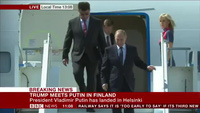 Tổng thống Putin đáp chuyên cơ xuống Helsinki trước thượng đỉnh Nga-Mỹ