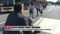 Các gia đình Hàn-Triều đoàn tụ sau gần 70 năm ly tán