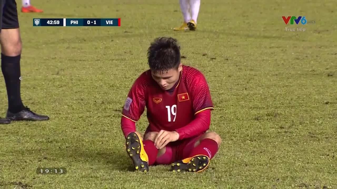 AFF Cup 2018: Những pha bóng xấu xí của ĐT Philippines với Quang Hải và ĐT Việt Nam