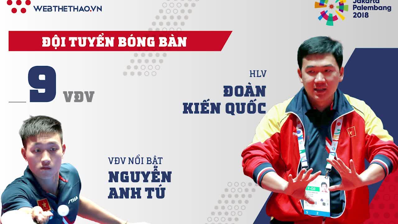 Profile ĐT Bóng bàn Việt Nam tham dự ASIAD 2018