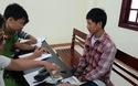 Lực lượng công an đang lấy lời khai Đặng Văn Phước An