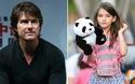 Con gái Tom Cruise càng lớn càng giống cha ruột