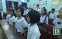 Bài Quốc ca vang lên trong lễ khai giảng lúc 7h tối