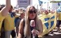Nữ phóng viên Thụy Điển lại bị hôn trộm ở World Cup