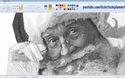 Nghệ sĩ sử dụng phần mềm Paint để vẽ bức tranh ông già Noel cực kỳ chi tiết