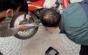 Rắn chui vào xe máy khiến nhiều người hoảng sợ
