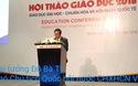 Phó Chủ tịch Quốc hội Đỗ Bá Tỵ phát biểu tại hội thảo giáo dục 2018