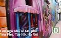 Ngõ nhỏ được vẽ tranh 3D độc đáo tại Hà Nội