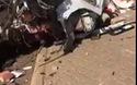 Mất lái, cô gái trẻ đâm nát xe thể thao Audi, chấn thương nghiêm trọng