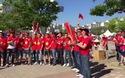 Cổ động viên Việt Nam tại Hàn Quốc hào hứng trước trận gặp U20 Pháp