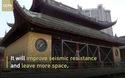 Cận cảnh Trung Quốc dịch chuyển ngôi chùa cổ 2.000 tấn