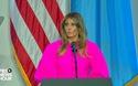 Bộ cánh gây chú ý của bà Melania Trump khi phát biểu trước Liên Hợp Quốc