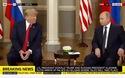 Ông Trump nháy mắt khi gặp ông Putin