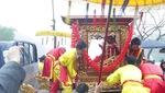 """Lễ rước """"Tướng bà"""" tại hội Gióng (Sóc Sơn), sáng 21/2."""