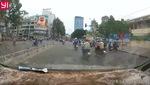 Clip: Tên cướp giật túi xách táo tợn, kéo lê cô gái hàng chục mét phố Sài Gòn. Nguồn: Facebook