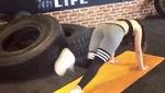 Bài tập đá chân kết hợp gập bụng