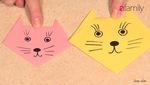 Cách gấp mèo con bằng giấy cực dễ thương cho con