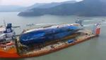 Toàn cảnh phà Sewol cập cảng Mokpo trong chuyến đi cuối cùng