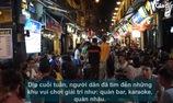 """Quá nắng nóng, người dân Hà Nội ùn ùn kéo lên phố """"nhậu"""" giải nhiệt lúc nửa đêm"""