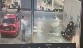 Thể hiện quá đà khi quay đầu mô tô, biker tự gây tai nạn