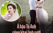 Á hậu Tú Anh công khai ảnh cưới với chồng là thiếu gia Hà thành