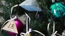 Làm hộp quà trang trí cây thông giáng sinh siêu đơn giản