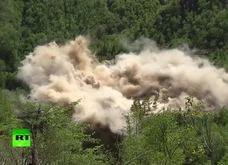 Cận cảnh vụ phá hủy bãi thử hạt nhân Triều Tiên bằng thuốc nổ