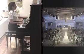 Clip Mai Ngọc đệm đàn bài hát Wedding song từng phát trong đám cưới của mình 1 năm về trước.