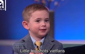 """""""Little Big Shots"""": Cậu bé Tommy (4 tuổi) bất mãn vì anh trai không chịu """"chia sẻ"""" bạn gái với mình."""