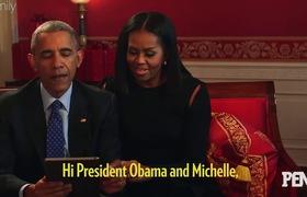 Cựu tổng thống Obama cùng Đệ nhất phu nhân Michelle trò chuyện và giải đáp thắc mắc cùng các cô cậu bé đáng yêu