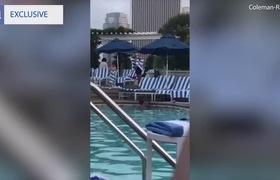 Nàng tiểu thư giàu có và chàng người mẫu tình tứ bên bể bơi