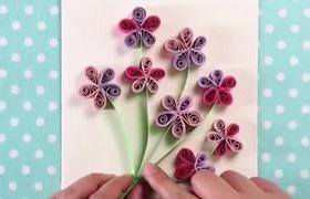 Nghệ thuật làm hoa cuộn giấy trang trí thiệp cực đẹp và bắt mắt!!